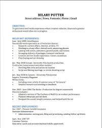 Biology Degree Resume Resume Example For Student Example Student Resume Student Sample