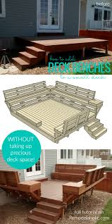 Steel Sled Deck Plans by How To Build Space Saving Deck Benches For A Small Deck