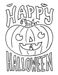 coloring pages halloween color sheets happy monster coloring
