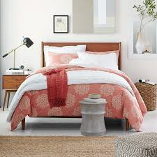 Pink Bed Frames Mid Century Bed Acorn West Elm
