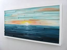 buy a made abstract lanscape painting wood wall made