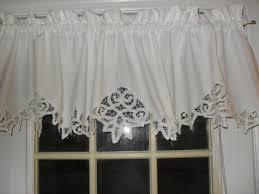 Lace Valance Curtains White Shabby Battenburg Lace Valance Country Curtain Valance