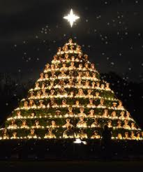 singing christmas tree belhaven celebrates 84 years of singing christmas tree tradition