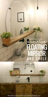 Bathroom Counter Shelf Remodelaholic How To Make A Modern