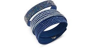 swarovski set bracelet images Lyst swarovski slake crystal rock bracelet set in blue jpeg
