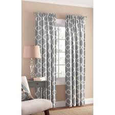 wallmart curtains for living room with pattern in grey and comes