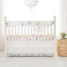 White Crib Set Bedding Floral Crib Bedding White Baby Bedding Floral Baby Bedding