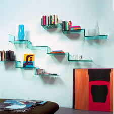 outstanding wall shelving ideas for living room from glass shelves
