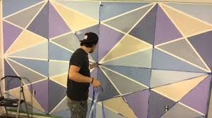 geometric wall paint youtube