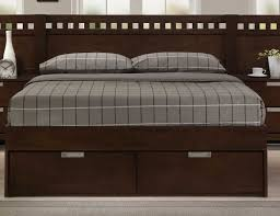 Platform Bed Designs With Drawers by Cheerful Decorating Ideas Using Rectangular Brown Wooden Headboard