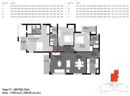Dlf New Town Heights Floor Plan Unitech Fresco Floor Plan Floorplan In