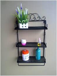 bathroom wall shelf with hooks bath towel bar white modern ideas