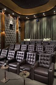 Home Theatre Wall Decor Black And White Entertainment Centers Very Comfortable And