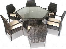 hexagon patio table and chairs hexagon stacking rattan garden dining set http modeliving co uk