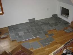 Slate Tile Laminate Flooring Slate Hearth I Built For My Wood Stove Diy And Home Improvement