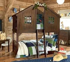 Fort Bunk Bed Tree Fort Bedroom Tree House Bunk Bed Pottery Barn