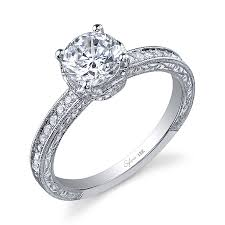 Crown Wedding Rings by Unique Round Brilliant Marquis Crown Engagement Ring