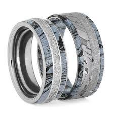 wedding bands sets gibeon meteorite wedding ring set alexandrite engagement ring