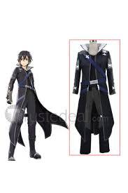 art online hollow realization kirito black cosplay costume