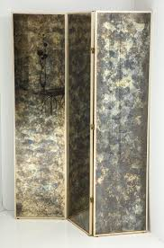 Mirror Room Divider by Fabulous 1940s Three Panel Antiqued Mirror Folding Screen After