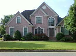 exterior cool home design ideas with brown brick exterior wall