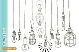 Edison Light Bulbs Edison Light Bulb Clip Art Png Illustrations Creative Market