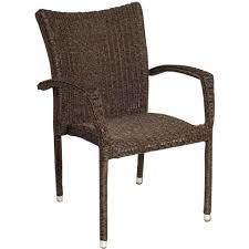 Resin Stacking Chairs Outdoor Atlantic Bari Resin Wicker Stacking Patio Dining Arm Chairs Set