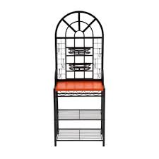 Dome Bakers Rack Southern Enterprises Dome Steel 26 In W Baker U0027s Rack With Wine