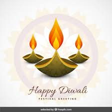 diwali greeting vector free