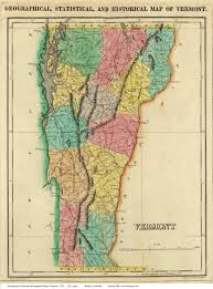 Vermont County Map Prints Of Old Vermont State Maps
