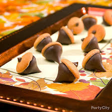 chocolate cookie acorns how to thanksgiving appetizer dessert