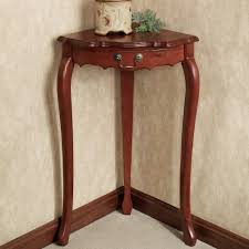 how to decorate an accent table corner table decorating theme featuring wooden varnishing frames and