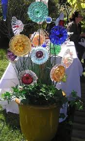 garden glass flowers for the garden i guess these people have