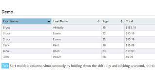 design a html table jqueryexle com best jquery grid plugins jqueryexle com