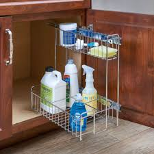 the kitchen sink cabinet organization 548 10cr chrome kitchen sink cabinet pull out organizer by