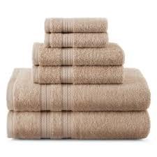 expressions 6 pc solid bath towel set