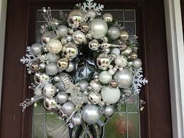 How To Make Christmas Wreath With Ornaments A Silver Xmas White Christmas Ornaments Christmas Ornament