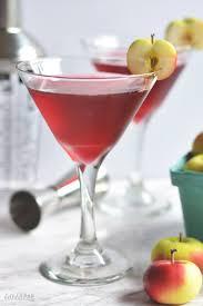 spiced cranberry apple martini