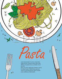 vector cooking banner template with hand drawn objects on italian
