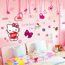kitty bow wall stick kitty cute children background