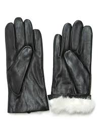 ladies motorcycle gloves fownes women u0027s rabbit fur lined black napa leather gloves at