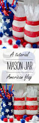 Dirty American Flag Red White Blue Mason Jars