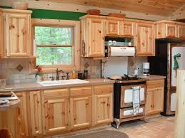 interior rustic country kitchen decor with hickory walnut