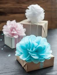 how to use tissue paper in a gift box diy tissue pom pom gift toppers tissue paper poms paper poms