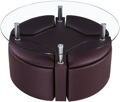 Unusual Ottomans by Coffee Table Awesome With Seating Marion Round Cocktail 4 Ottomans