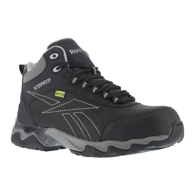 Reebok Work Beamer Composite Toe Internal Met Guard Waterproof Athletic Hiker, Black/grey
