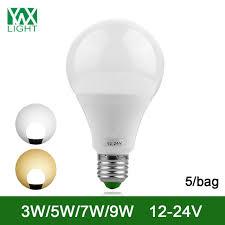 24v led light bulb ywxlight 5 bag e27 energy saving l bulb 3w 7w 9w led light bulb
