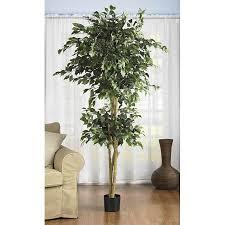 ficus tree 6 trim artificial silk ficus tree for narrow es at