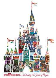 cinderella castle collage celebrating 40 years of magic at walt