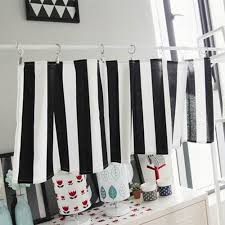 Black And White Stripe Curtains Black And White Stripe Curtain Kitchen Curtain 35x135cm In